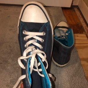 Converse Shoes - Blue High Top Converse